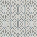 Isabelle de Borchgrave for Fabricut's Egyptian Lattice in color Ocean (01)