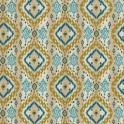 Isabelle de Borchgrave for Fabricut's Ikat Paisley in color Teal (04)